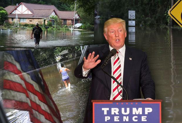 Donald Trump Louisiana Flood Obama Vacation