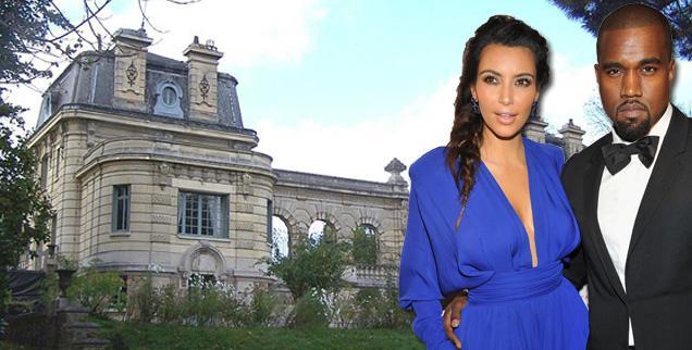 //kim kardashian kanye west louveciennes chaccteau de voisins