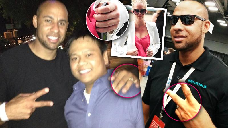 //hank baskett wedding ring cheating scandal