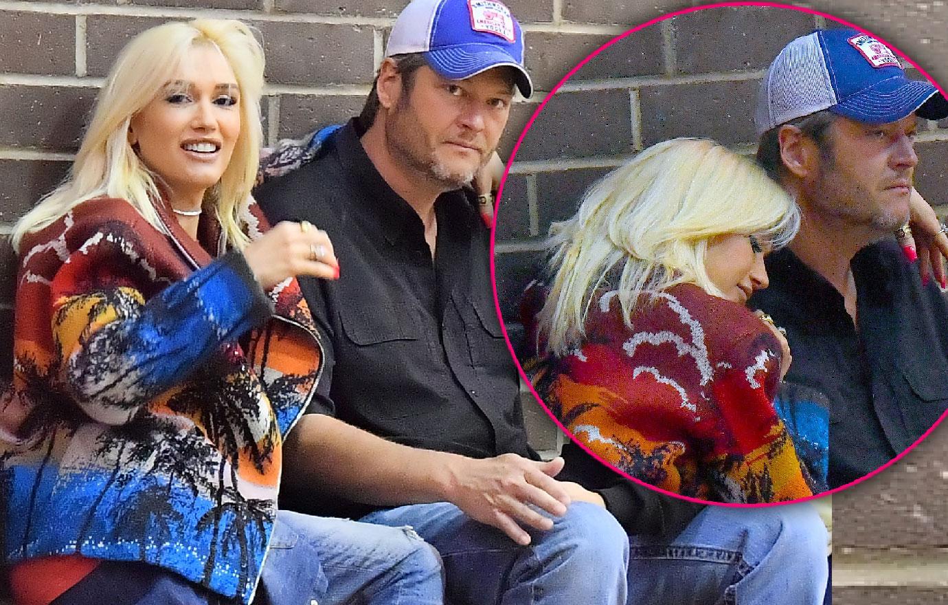 Gwen Stefani Blake Shelton Enjoy PDA Day
