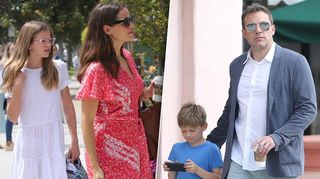 Jennifer Garner & Ben Affleck Attend Easter Sunday Church With Their Mini-Me Kids!