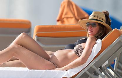 //gisele bundchen pregnant bikini miami