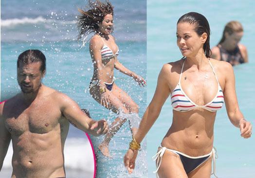 //brooke burke bikini body beach st barts pp