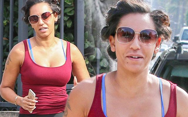 mel b no makeup photos