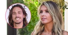 Audrina Patridge wears a black top. Inset, Corey Bohan.