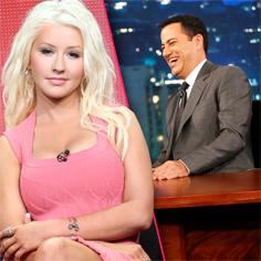 //christina aguilera jimmy kimmel scared talk show