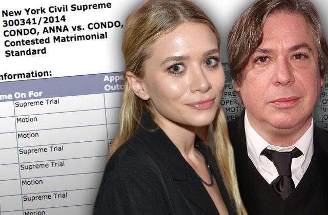 //ashley olsen dating george condo still married divorce