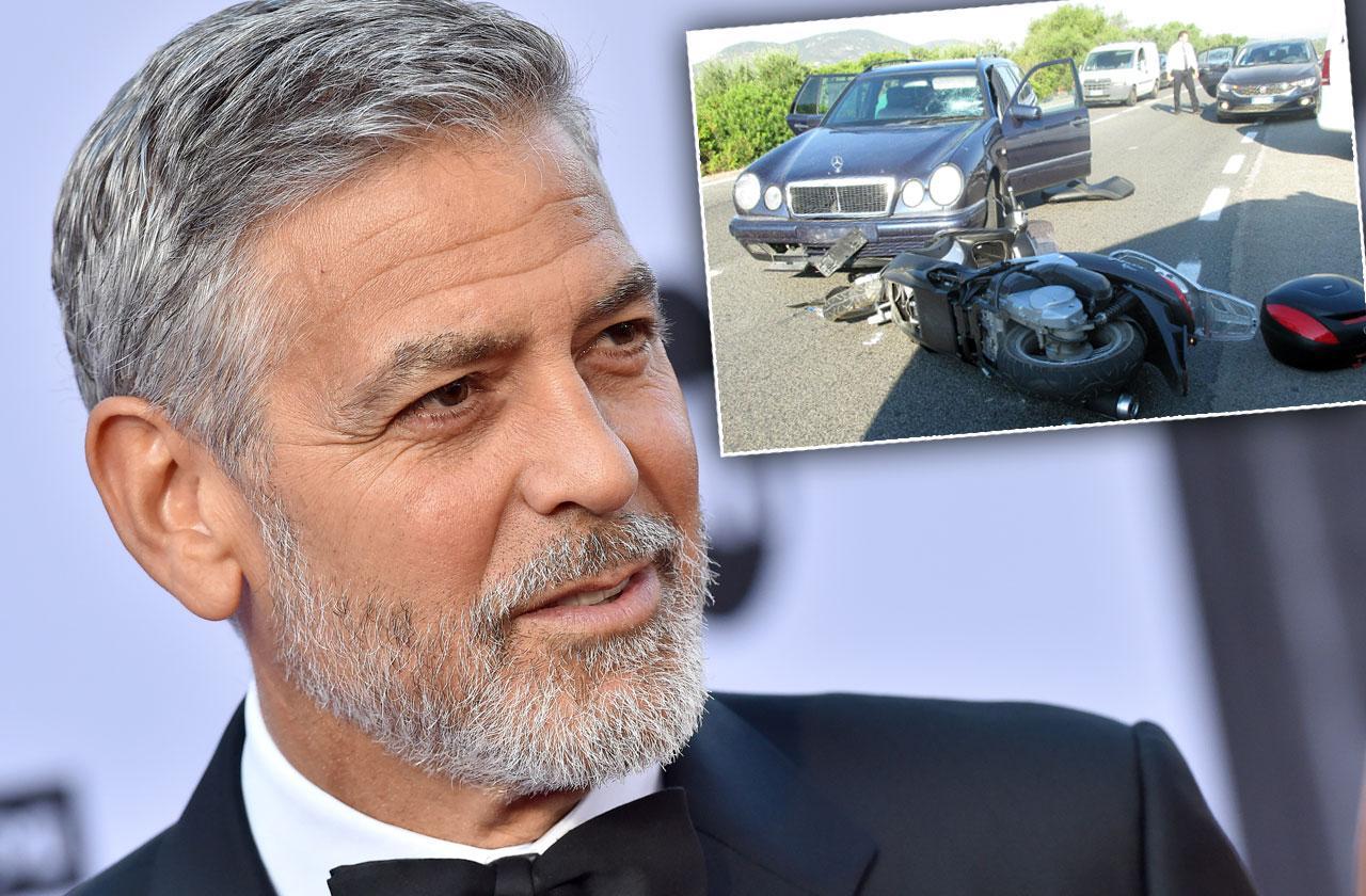 George Clooney Car Crash Cause