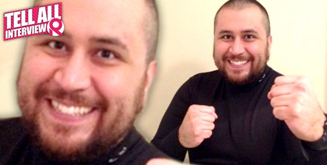 //george zimmerman boxing pose exclusive interview  wide