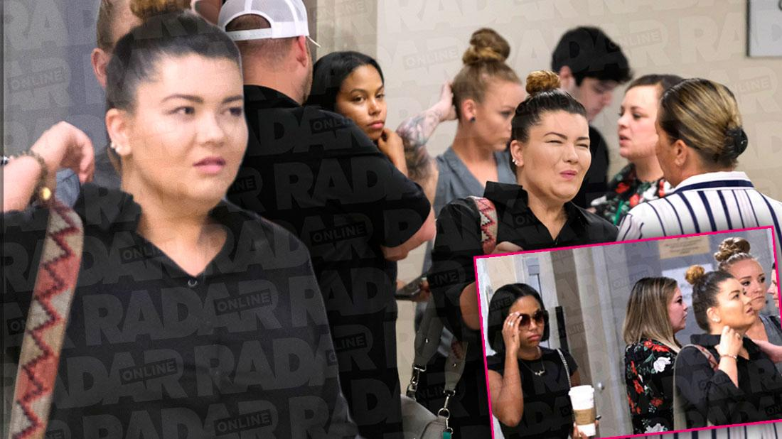 Supporting Amber! See 'Teen Mom' Family Surround Portwood At Explosive Court Hearing