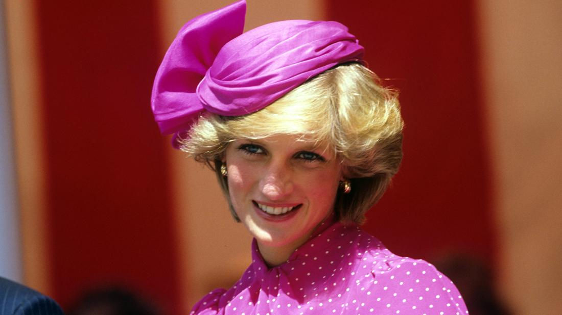 Princess Diana Smiling in Pink Dress and Matching Hat