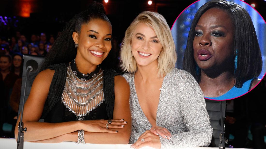 Gabrielle Union and Julianne Hough on the Set Of America's Got Talent, Inset Of Viola Davis