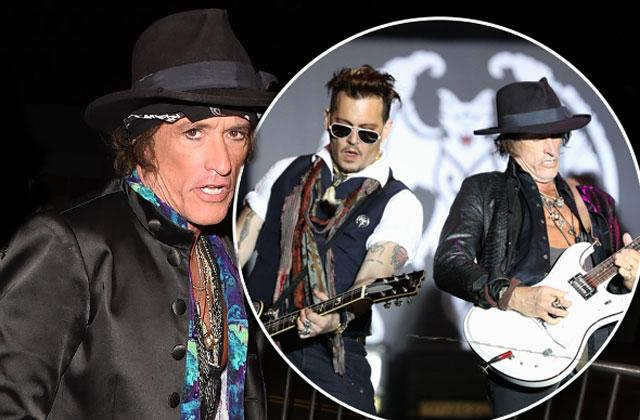 //hollywood vampires joe perry collapses on stage pp
