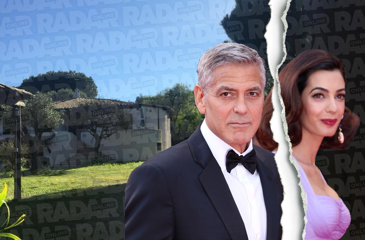 George clooney amal divorce flees island hideaway bans actor sardina villas