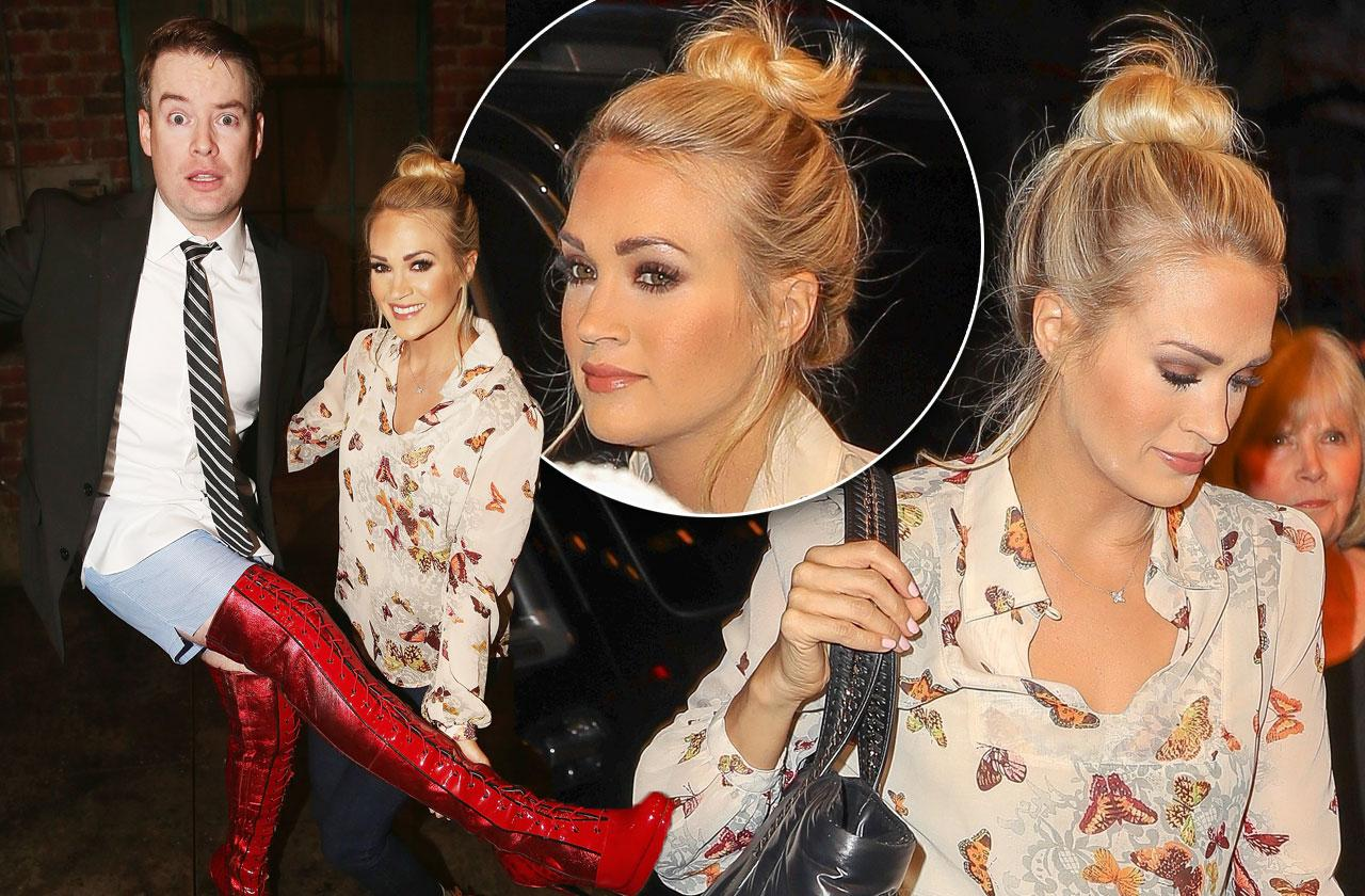 //Carrie Underwood Broadway Face Injury pp