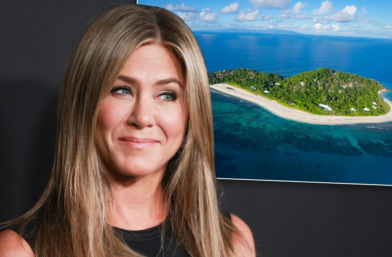 jennifer aniston private island million dollar after divorce justin theroux