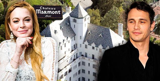 //lindsay lohan james franco chateau marmont