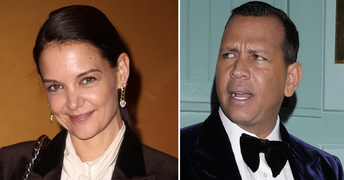 katie holmes spotted mystery man after arod pp