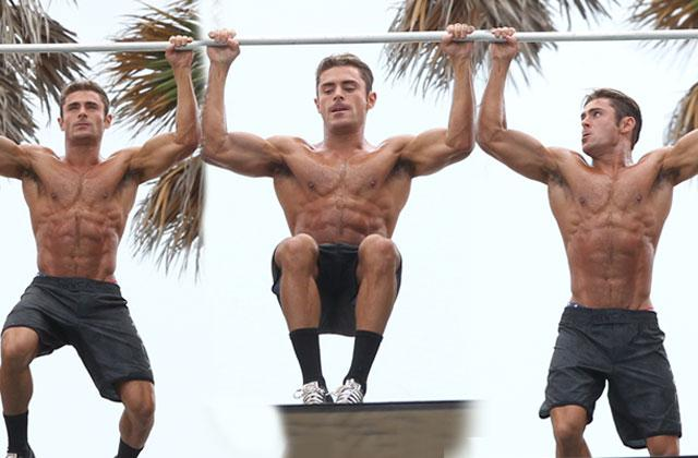 //zac efron muscles workout miami beach pp