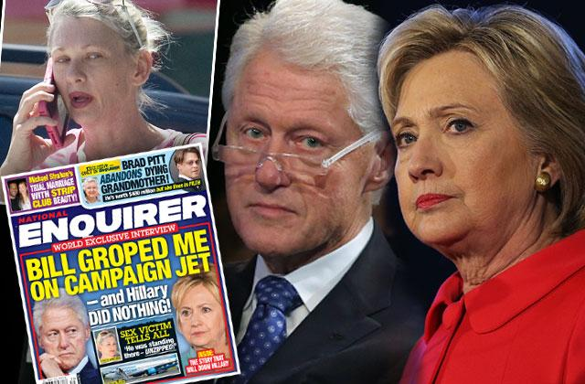 //bill clinton groped woman campaign jet