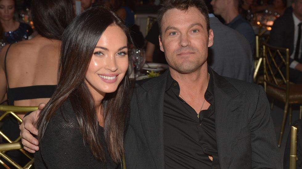 //Actors Megan Fox and Brian Austin Green attend the th Annual Night of Generosity Gala presented