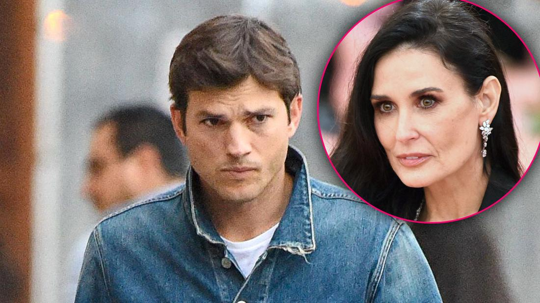 Ashton Kutcher Looking Angry With Inset of Concerned Demi Moore