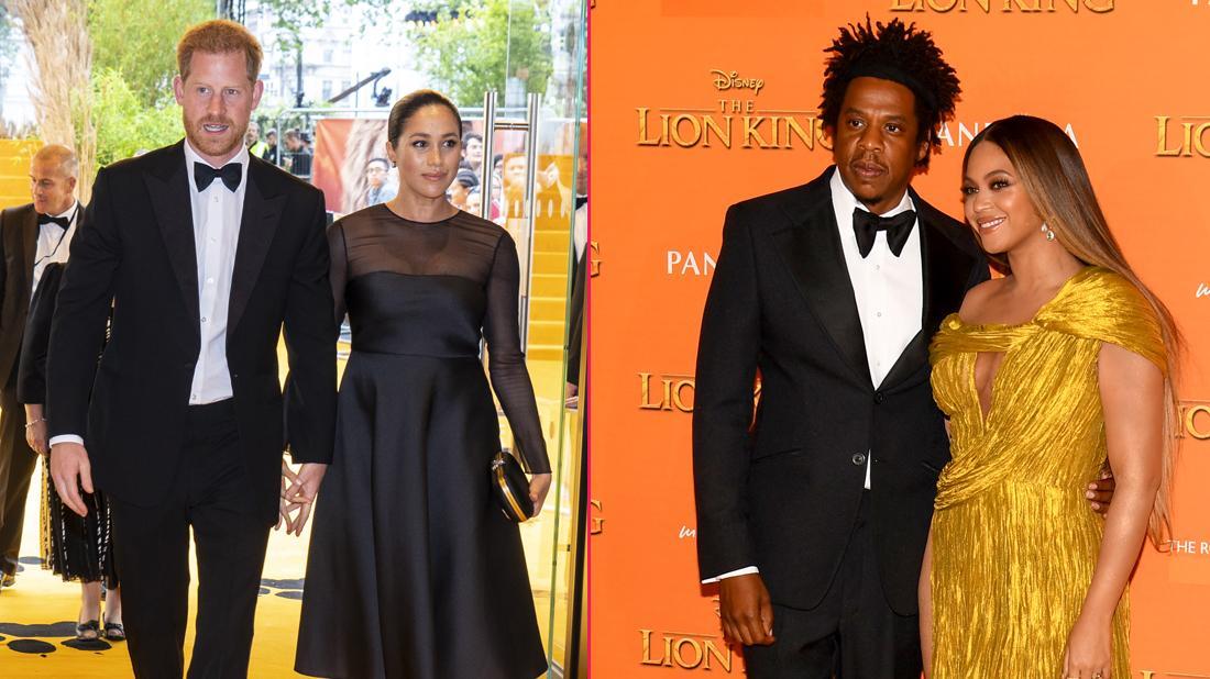 Meghan Markle, Prince Harry, Beyonce & Jay-Z Watch Lion King