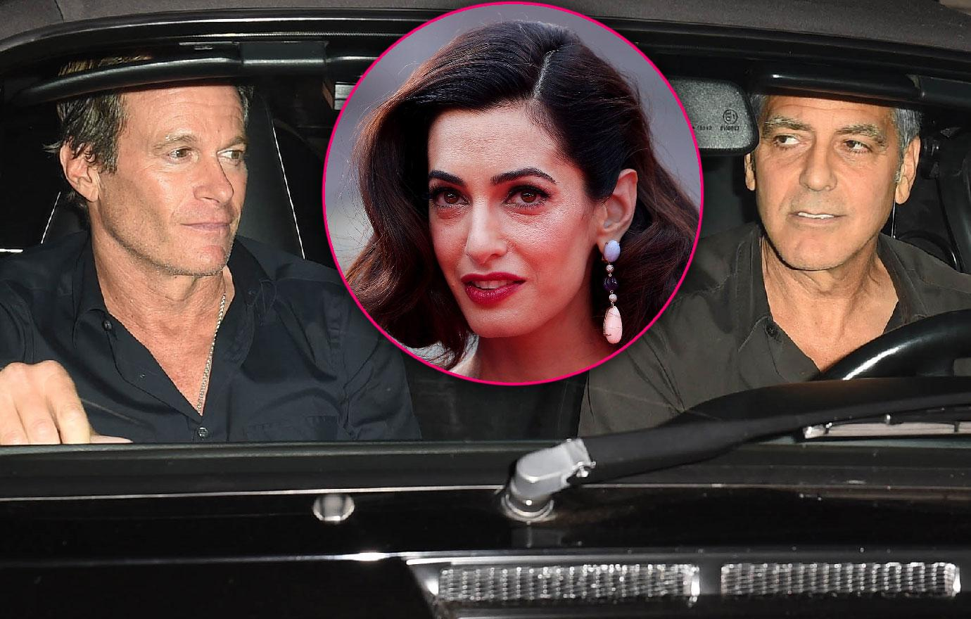 George Clooney Break From Twins Amal Guys Night Out