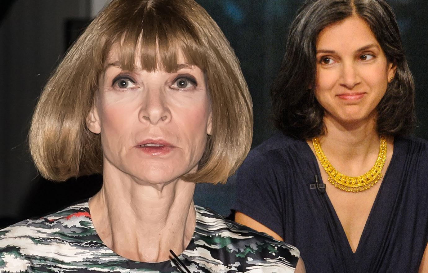 Anna Wintour Gives New Vanity Fair Editor Radhika Jones Fashion Stink Eye
