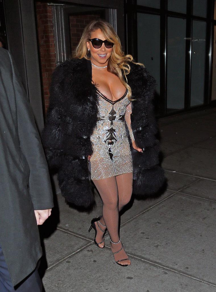 Nip Slip! Mariah Carey Laughs off Her Wardrobe Malfunction