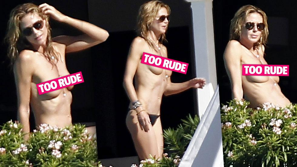 Heidi Klum Topless St Barth's