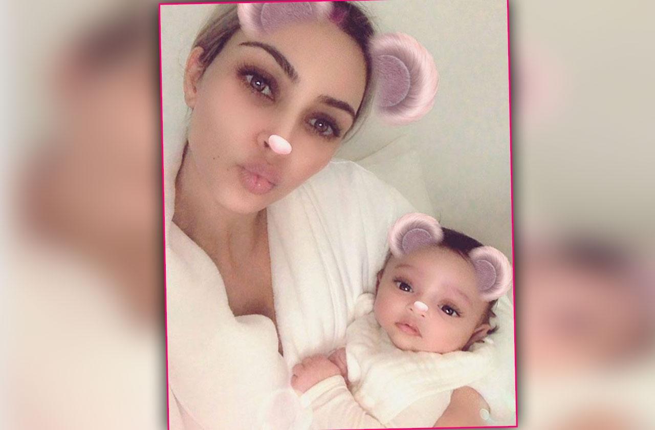 Kim Kardashian – Posts First Photo Of Baby Chicago On Instagram