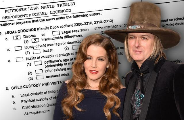 Lisa Marie Presley Divorce Papers