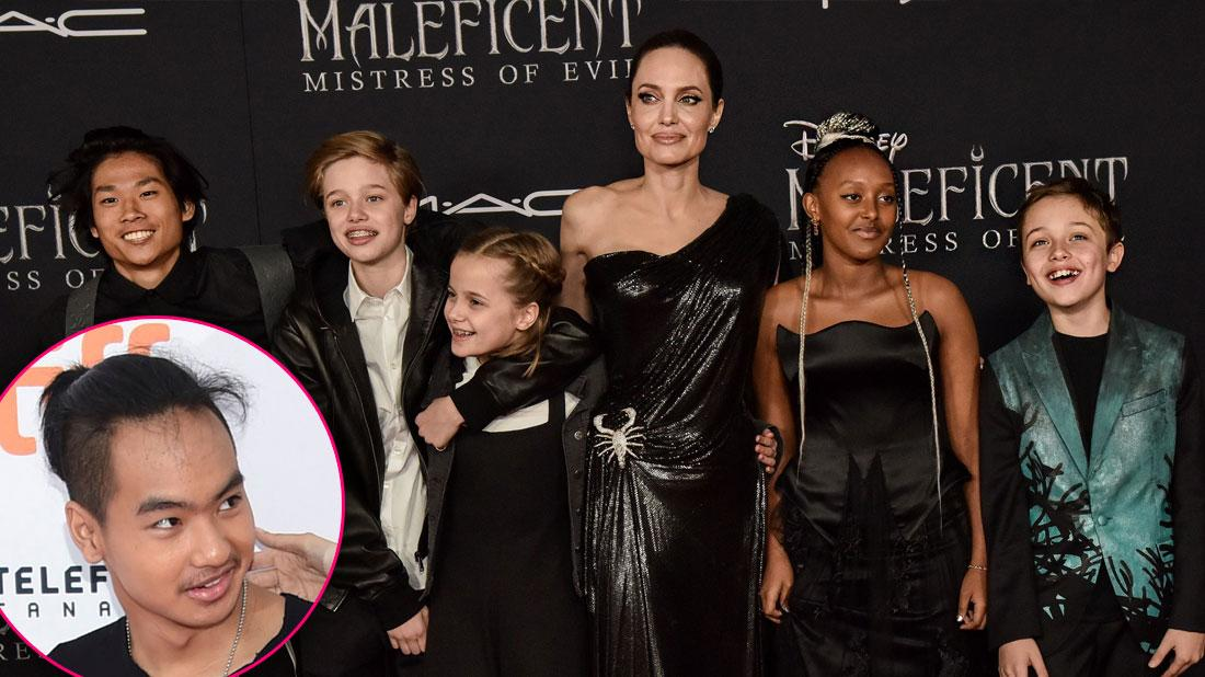 Angelina Jolie & Kids At 'Maleficent' Premiere Without Maddox