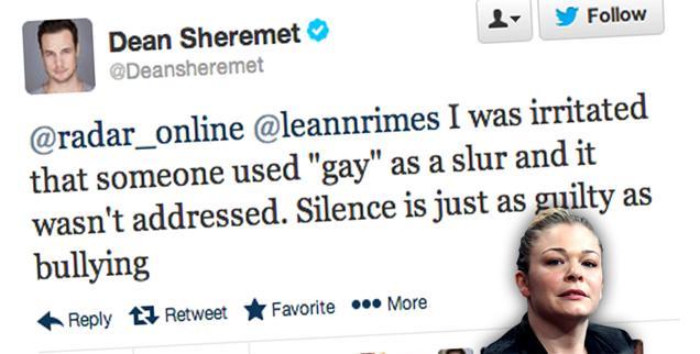 //dean sheremet leann rimes gay slur silence wide