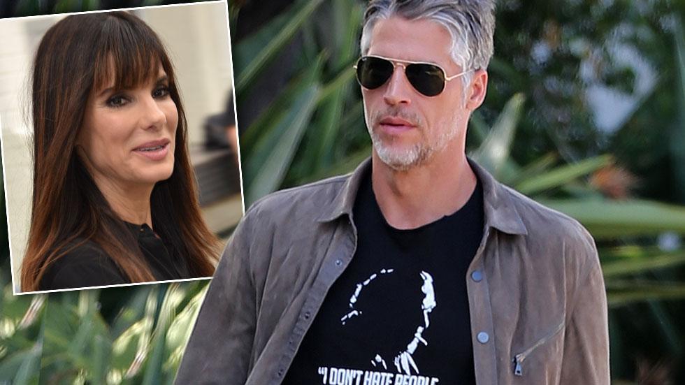 Sandra Bullock Boyfriend Bryan Randall In Statement Tee