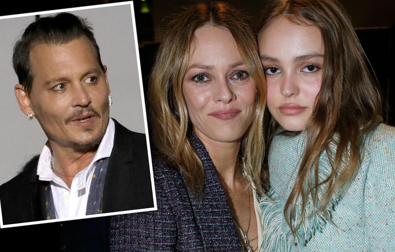 Vanessa Paradis Happy Johnny Depp's Daughter Lily Rose Chosen Showbiz Career