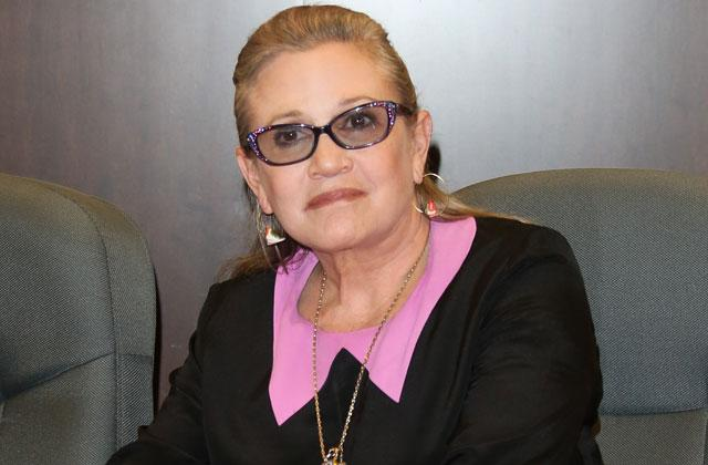 Carrie Fisher Heart Attack Sto Breathing Plane