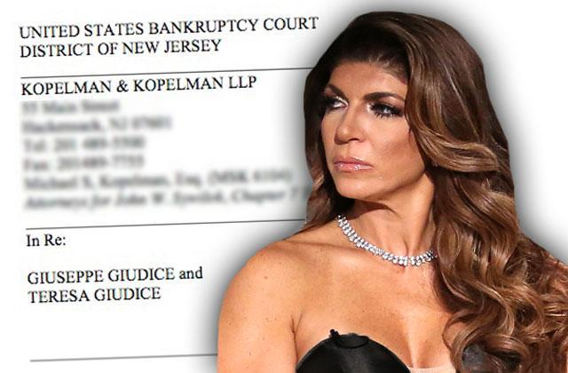 teresa giudice bankruptcy case settles rhonj