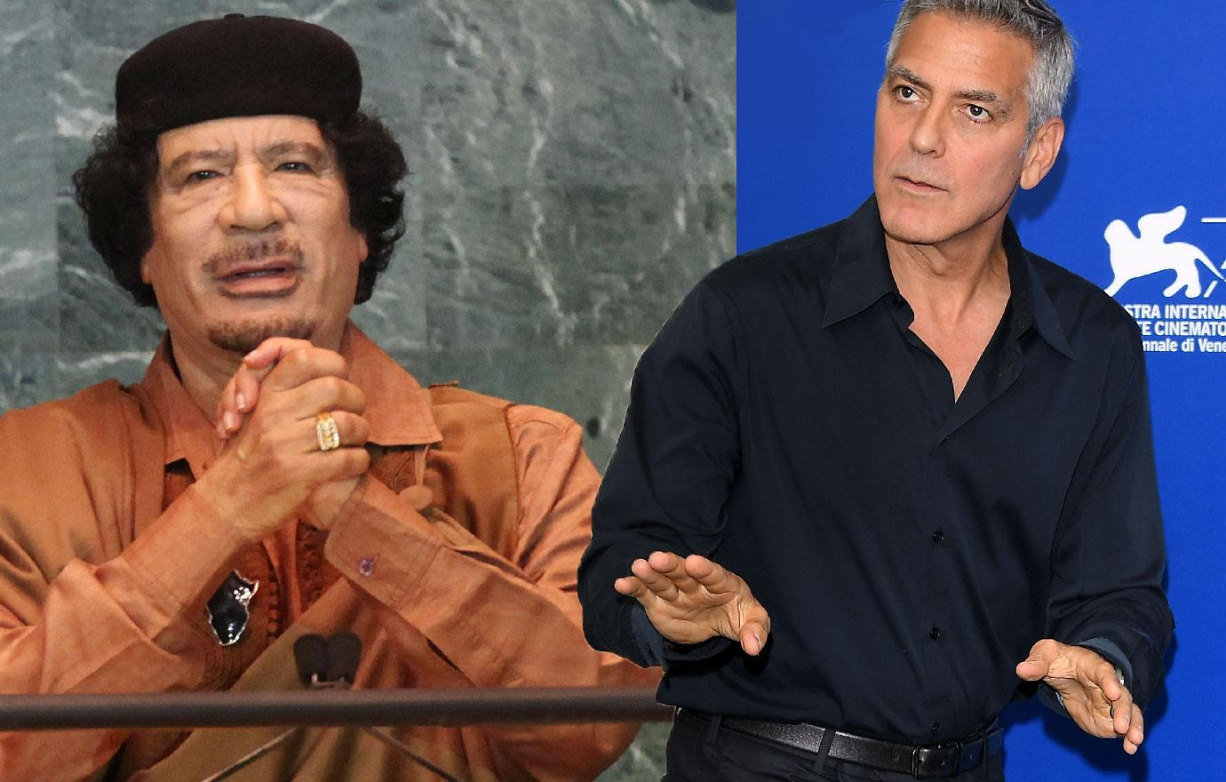 George Clooney Asked To Spy On Colonel Gadaffi