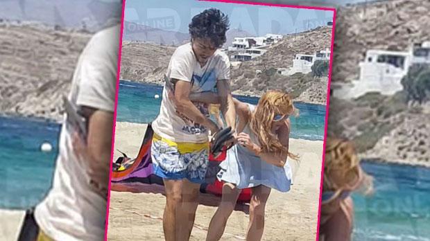 lindsay lohan fiancé fight egor tarabasov beach break up split interview