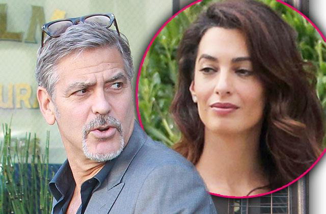//amal clooney pregnant twins george clooney fighting birth pp