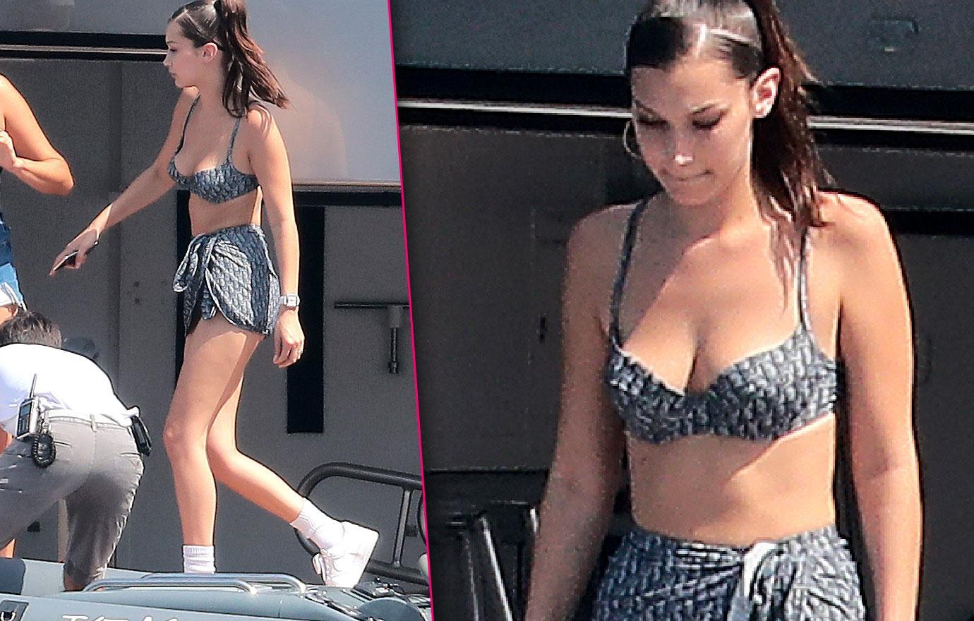 Bella Hadid Shows Off Bikini Body In Monaco