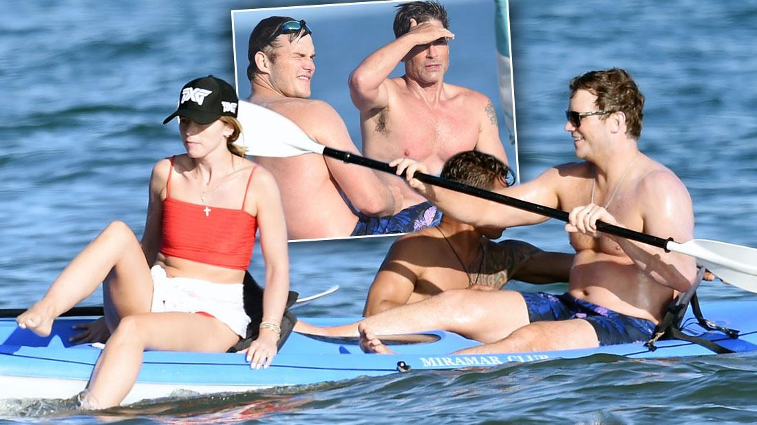 Katherine Schwarzenegger Wears Bikini On Beach With Chris Pratt