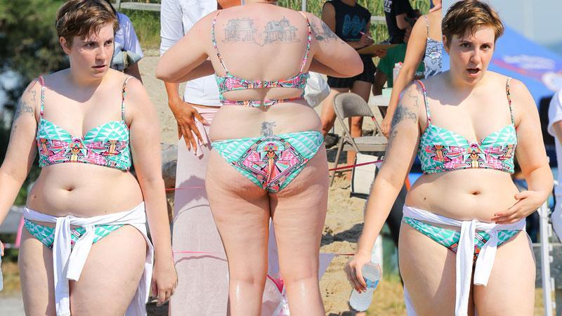 Lena Dunham Flaunts Bikini Body For Charity
