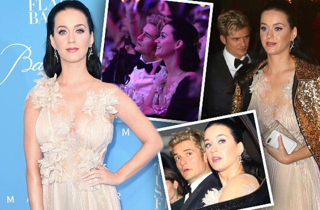 Katy Perry Orlando Bloom Snowflake Ball Split
