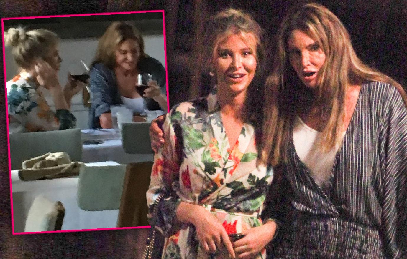 Caitlyn Jenner Galpal Sofia Hutchins PDA Dinner With Shirley