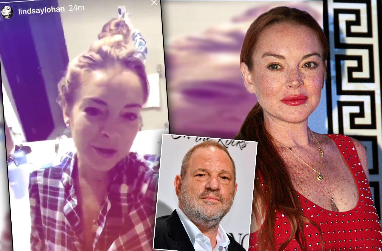 //Lindsay Lohan Defends Harvey Weinstein PP