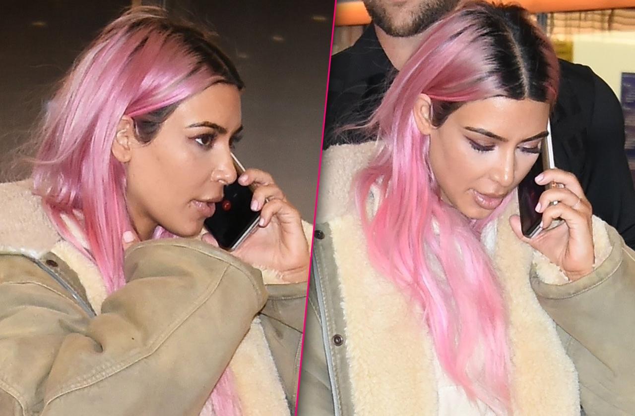Kim Kardashian Pink Hair Curse