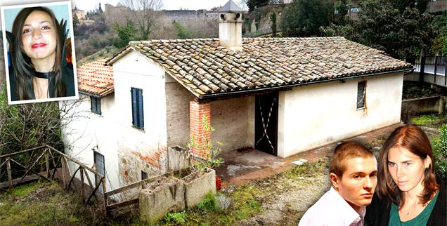 //amanda knox meredith kercher murder house sale italy wide